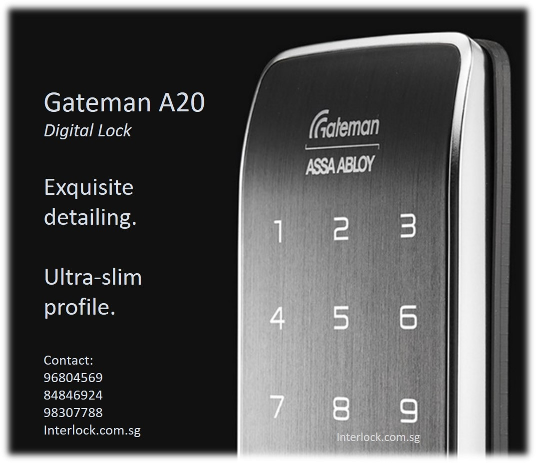 Gateman A20 Quot Tuxedo Quot Digital Lock Interlock Singapore