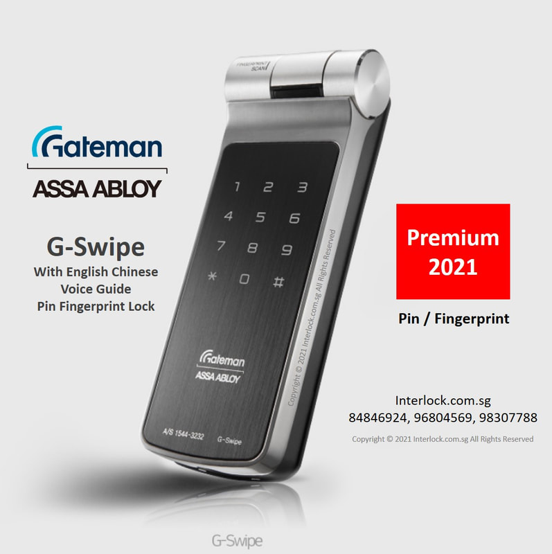 Singapore Assa Abloy Gateman G-Swipe premium fingerprint digital lock with the only industry's monocoque body. Superb build.