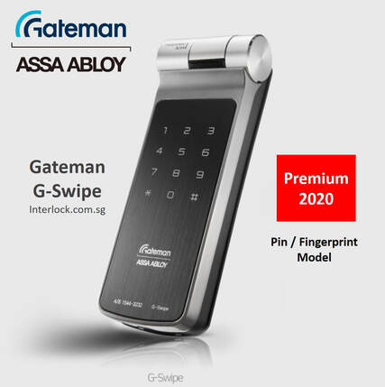 Assa Abloy Gateman G-Swipe  Premium Fingerprint Lock in Singapore