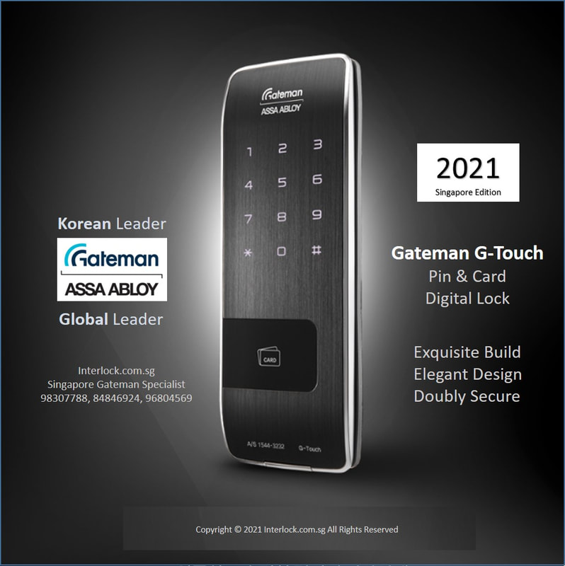Singapore Gateman G-Touch premium  digital lock with the only industry's monocoque body. Superb build.