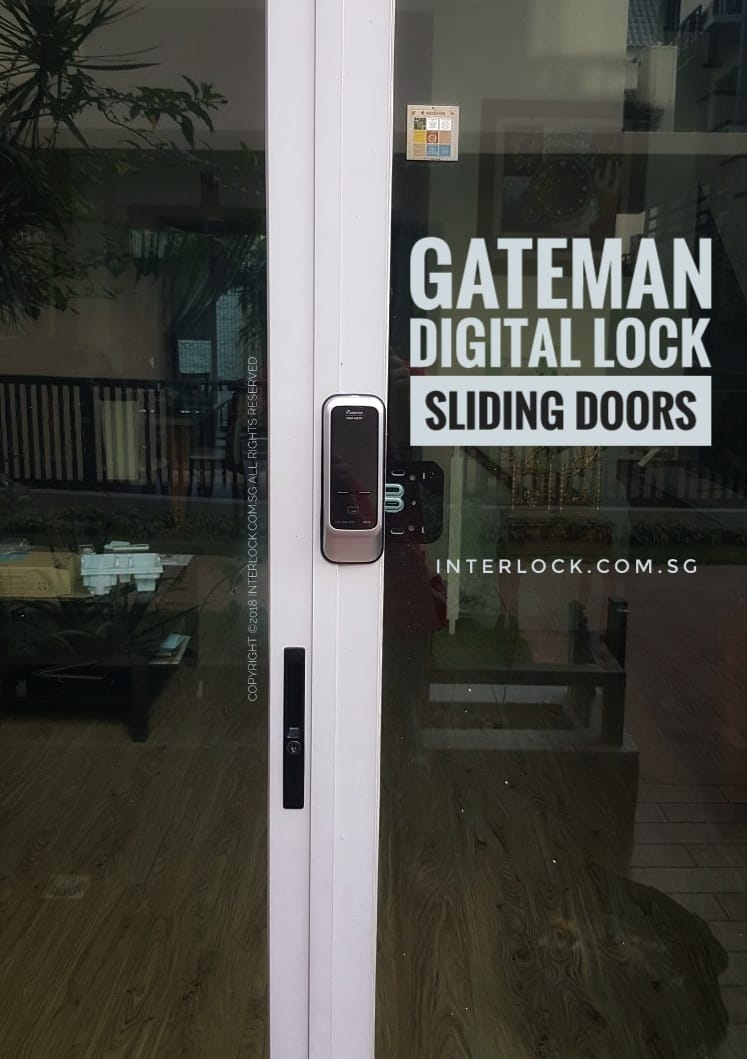 Gateman digital lock for Springhill condo sliding aluminium door.