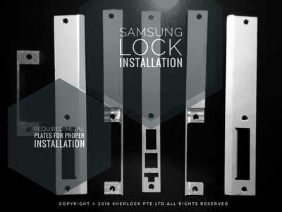 Samsung Digital Lock P930 Faceplate, strike plate and rebate adapter for left and right opening doors