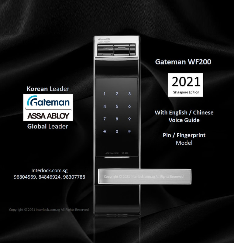 Assa Abloy Gateman WF200 fingerprint lock.