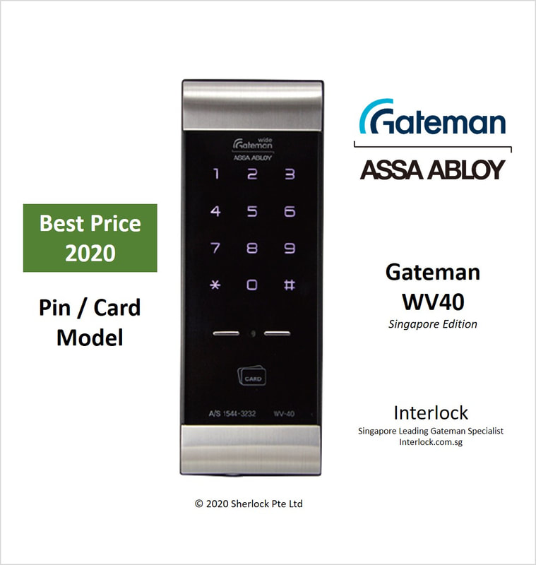Assa Abloy Gateman WV40 Best Price Pin and Card digital lock in Singapore