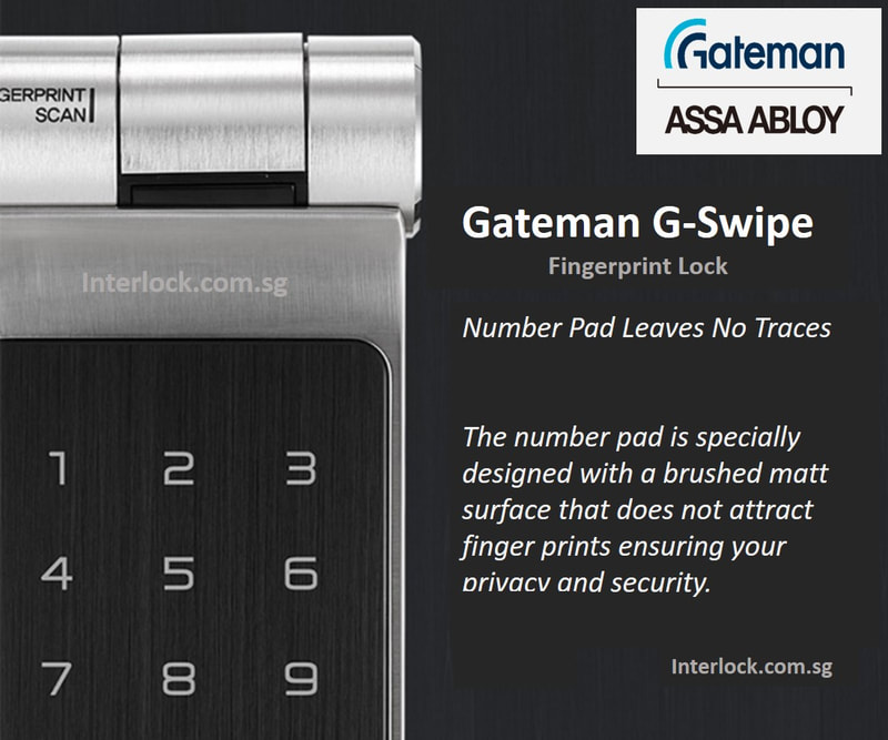 Gateman G-Swipe Singapore Digital Lock